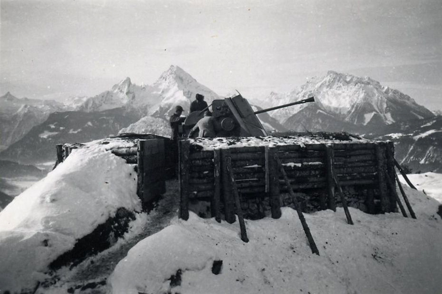 German soldiers in the Alps