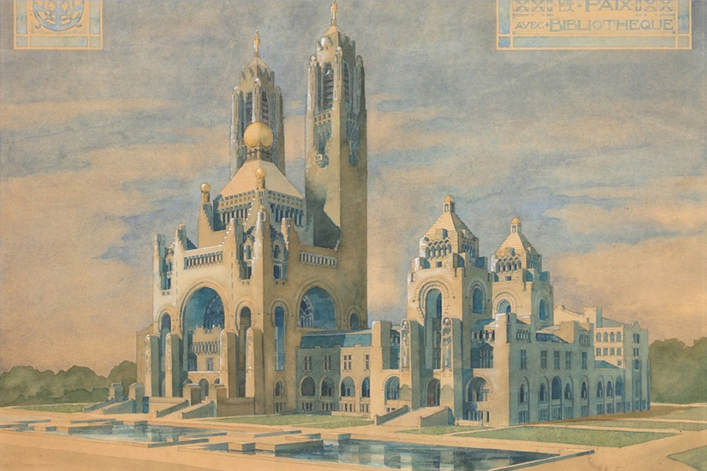Designs for the Peace Palace in The Hague