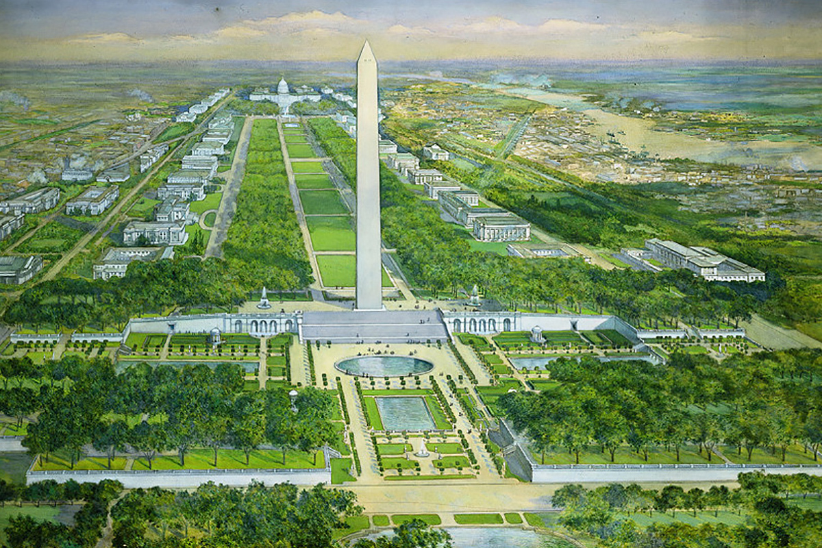 Washington Monument Gardens design