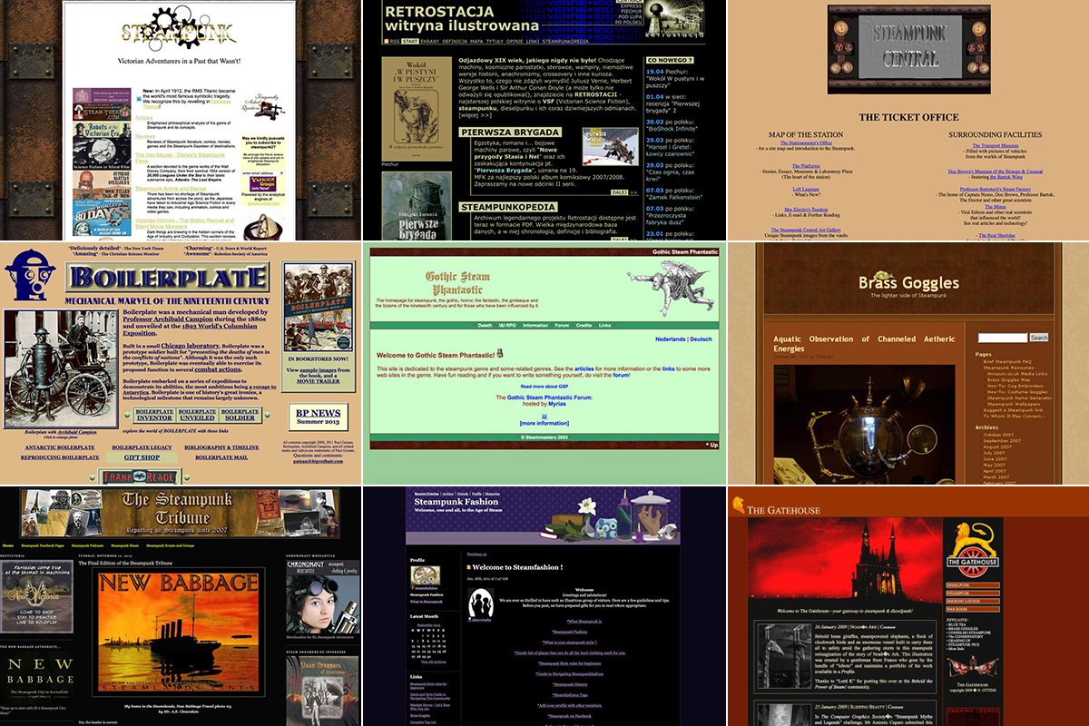 Steampunk websites