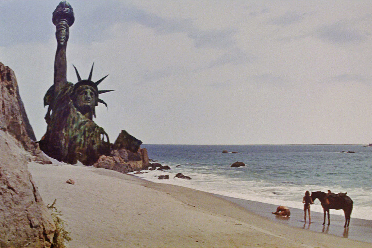 Lady Liberty in Ruins