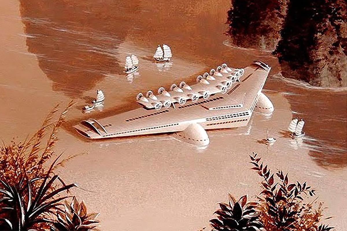 Norman Bel Geddes' Fantastical Airliner