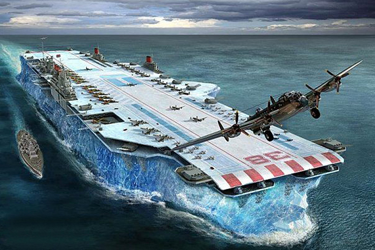 Unsinkable British Aircraft Carrier — On Ice!