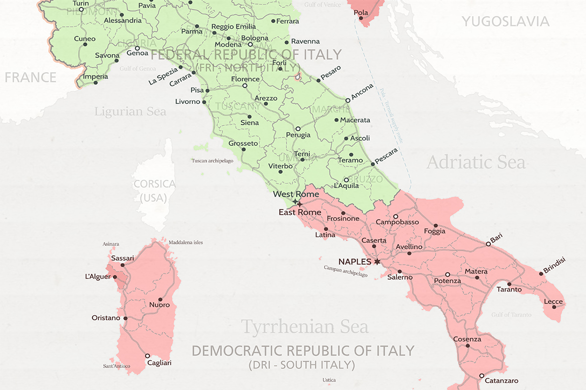 What If Italy Had Been Divided During the Cold War?